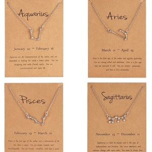Aries Zodiac Constellation Necklace Silver